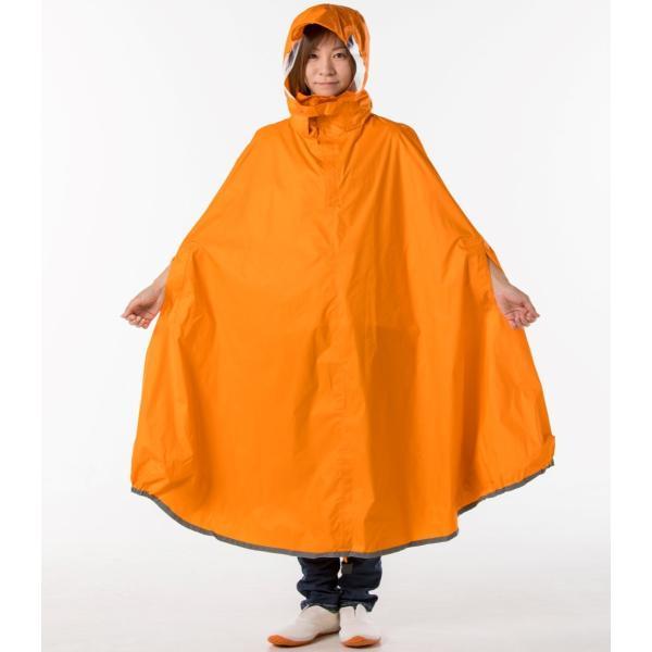 【雨の日に、カゴまで覆える便利な自転車用レインポンチョ!】 ちゃりポン コヤナギ koyanagi 雨具/カッパ/ポンチョ|jpu-shop|03