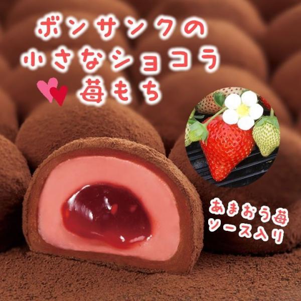 九州 ギフト 2019 石村萬盛堂 ボンサンクの小さなショコラ苺もち 18個  28365  博多土産 福岡 冷蔵 |jrk-shoji