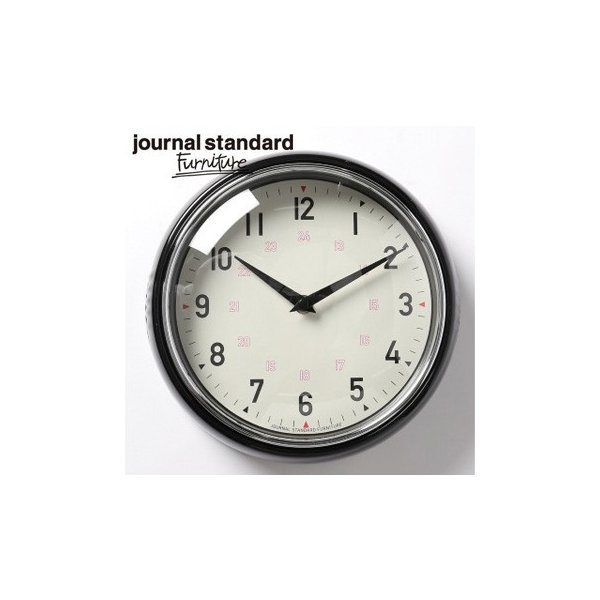 journal standard Furniture ジャーナルスタンダードファニチャー GENT WALL CLOCK BLACK ゲント ウォールクロック ブラック 時計 壁掛け