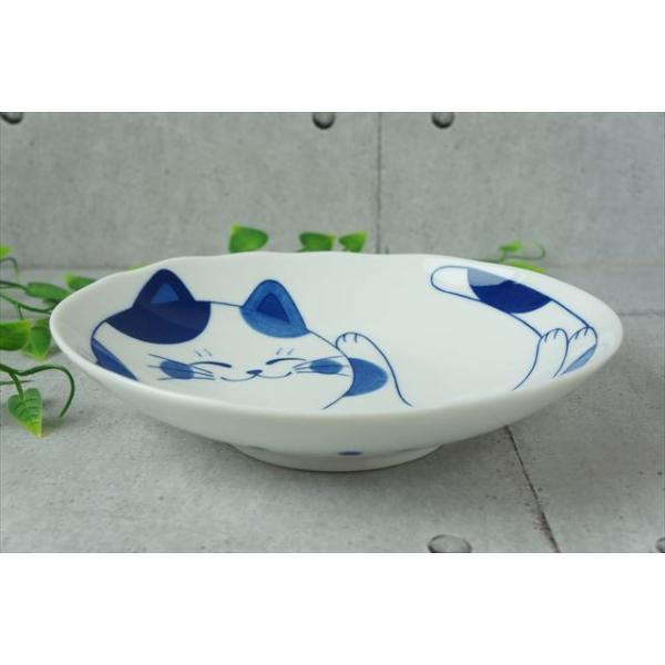 ねこちぐら ミケ 19.5×16cm 60楕円深皿 カレー皿 パスタ皿 子供 丸 ボウル 鉢 美濃焼 国産 日本製 陶器 猫 ネコ ねこ 猫柄 ネコ柄 食器 お子様 キッズ|js-kikaku|03