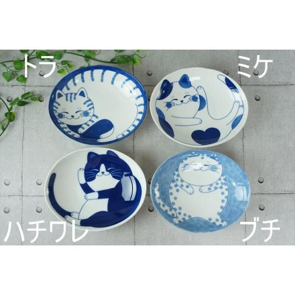ねこちぐら ミケ 19.5×16cm 60楕円深皿 カレー皿 パスタ皿 子供 丸 ボウル 鉢 美濃焼 国産 日本製 陶器 猫 ネコ ねこ 猫柄 ネコ柄 食器 お子様 キッズ|js-kikaku|05