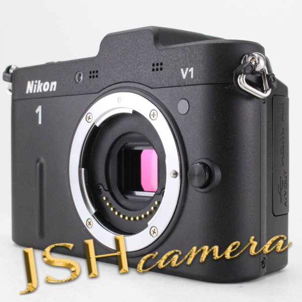 Nikon ミラーレス一眼カメラ Nikon 1 (ニコンワン) V1 (ブイワン) ボディ ブラック N1 V1 BK jsh