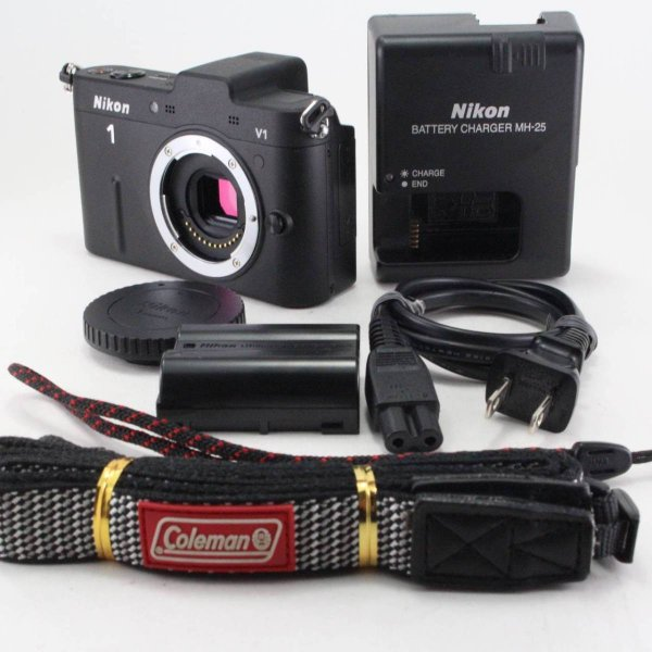 Nikon ミラーレス一眼カメラ Nikon 1 (ニコンワン) V1 (ブイワン) ボディ ブラック N1 V1 BK jsh 02