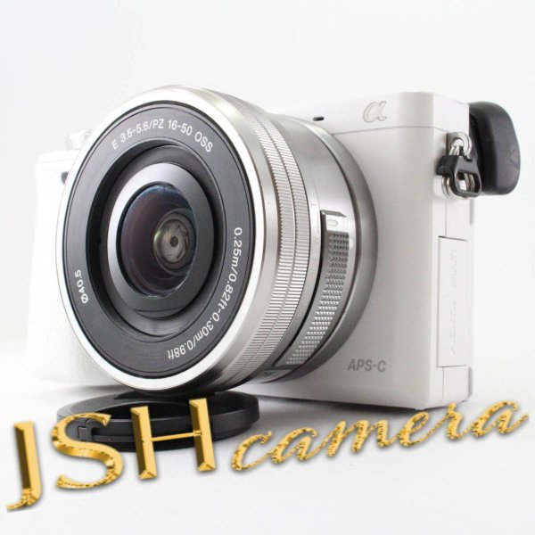 ソニー SONY ミラーレス一眼 α6000 パワーズームレンズキット E PZ 16-50mm F3.5-5.6 OSS ホワイト ILCE-6000L W|jsh