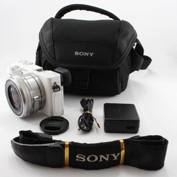 ソニー SONY ミラーレス一眼 α6000 パワーズームレンズキット E PZ 16-50mm F3.5-5.6 OSS ホワイト ILCE-6000L W|jsh|02