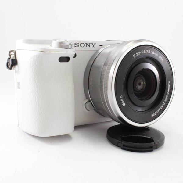 ソニー SONY ミラーレス一眼 α6000 パワーズームレンズキット E PZ 16-50mm F3.5-5.6 OSS ホワイト ILCE-6000L W|jsh|03
