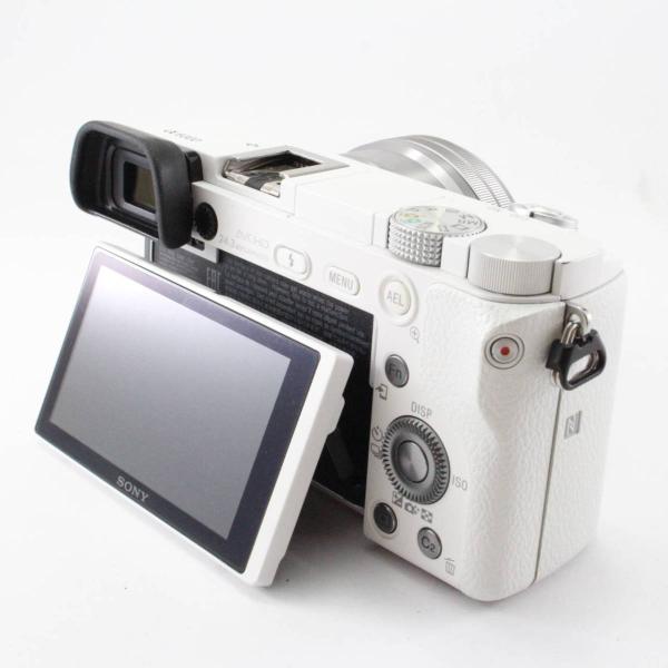 ソニー SONY ミラーレス一眼 α6000 パワーズームレンズキット E PZ 16-50mm F3.5-5.6 OSS ホワイト ILCE-6000L W|jsh|04