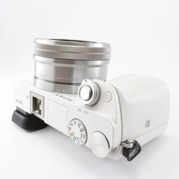 ソニー SONY ミラーレス一眼 α6000 パワーズームレンズキット E PZ 16-50mm F3.5-5.6 OSS ホワイト ILCE-6000L W|jsh|05