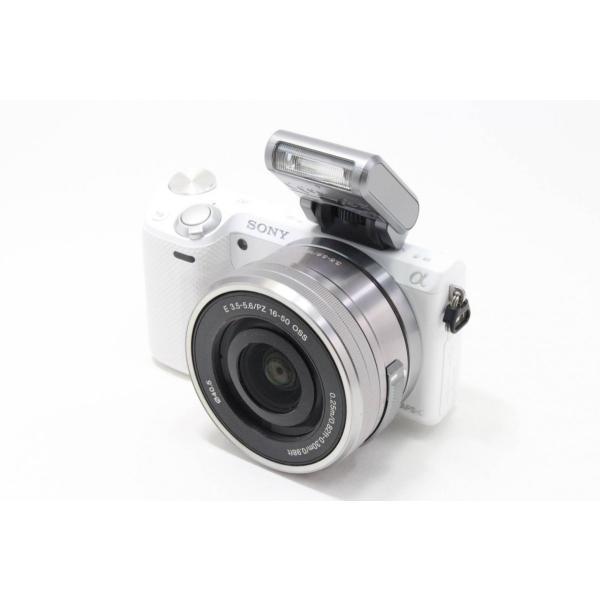 ソニー SONY ミラーレス一眼 α NEX-5R パワーズームレンズキット キットレンズ:E PZ 16-50mm F3.5-5.6 OSS ホワイト NEX-5RL/W|jsh|02