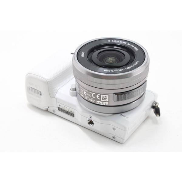 ソニー SONY ミラーレス一眼 α NEX-5R パワーズームレンズキット キットレンズ:E PZ 16-50mm F3.5-5.6 OSS ホワイト NEX-5RL/W|jsh|04