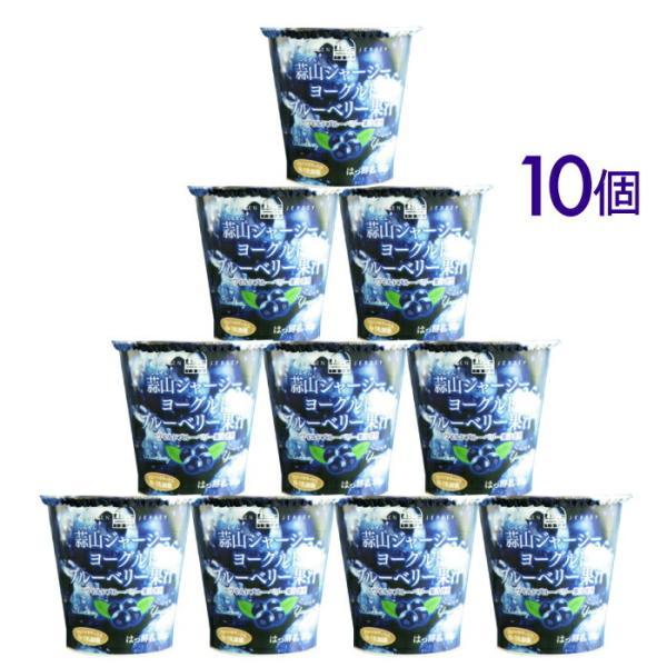 敬老の日 ギフト 送料無料 ラッピング対応 蒜山ジャージーヨーグルトブルーベリー果汁10個セット 健康