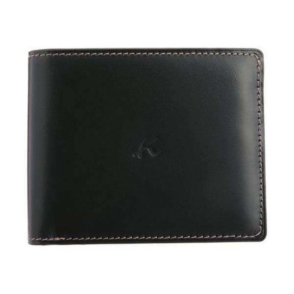 キタムラ 財布二折財布ZH0072ダークグリーン/ゴールドステッチ 緑 32441