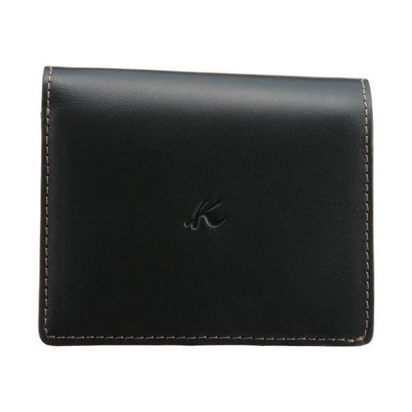 キタムラ 財布二折財布ZH0128ダークグリーン/ゴールドステッチ 緑 32441