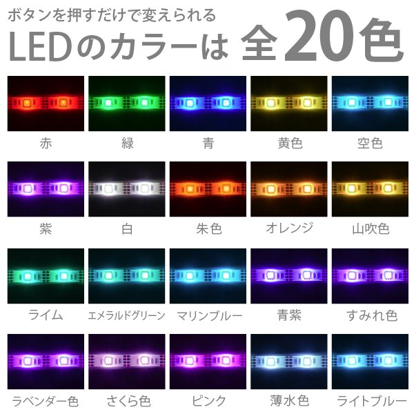 [DM便送料無料] 「LEDテープライト 貼レルヤ USB(レインボー)1m」カラフル照明・USB電源・シール式・店舗看板やショーケース・イルミネーションにも最適|jttonline|03