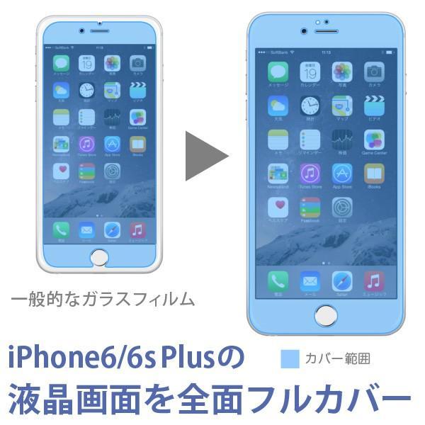 目に有害な青色光を80%カット「iPhone6/6s Plus(5.5インチ)用 ブルーライトカット 全面フルスクリーン液晶保護ガラス(ホワイト) jttonline 04