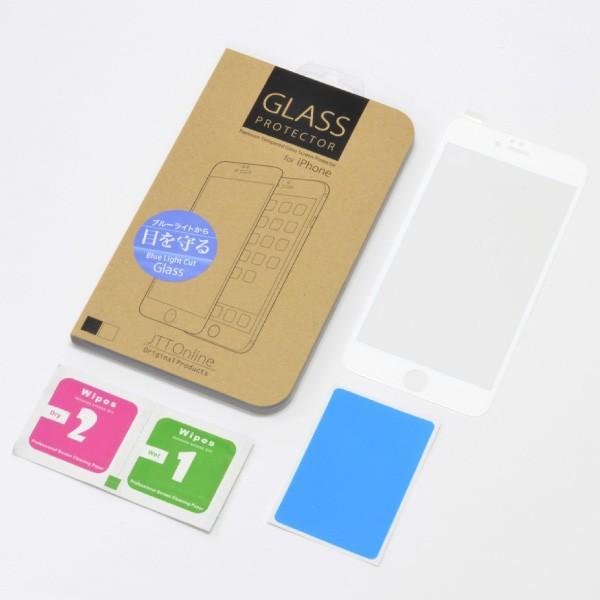 目に有害な青色光を80%カット「iPhone6/6s Plus(5.5インチ)用 ブルーライトカット 全面フルスクリーン液晶保護ガラス(ホワイト) jttonline 06