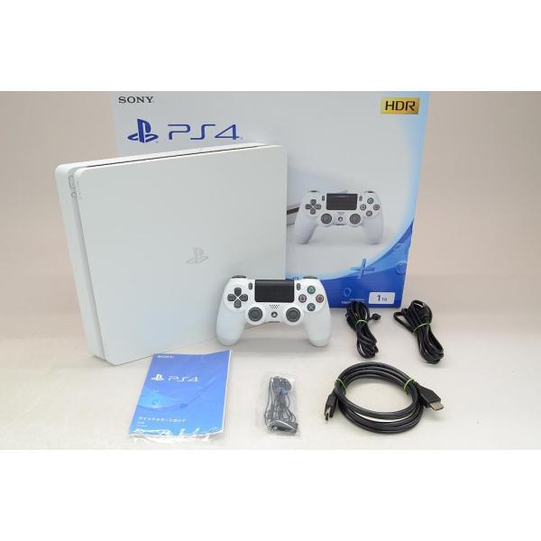 PlayStation4 本体 CUH-2100BB02 グレイシャー・ホワイト 1TB (CUH-2100BB02)の画像