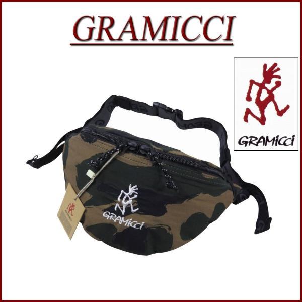 GRAMICCIグラミチランニングマンロゴ刺繍カモフラージュウエストバッグGRB-0024