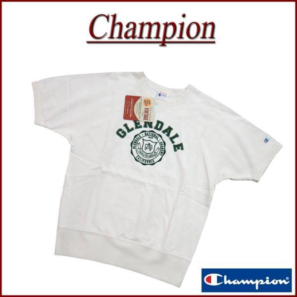 Champion チャンピオン ランナーズタグ フロッキープリント 半袖 スウェットシャツ C3-K008 jtwoshop
