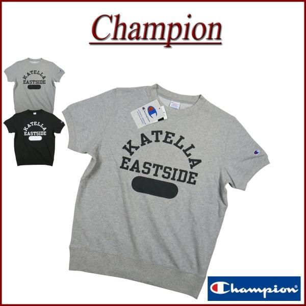 Champion チャンピオン トリコロールタグ カレッジプリント 半袖 スウェットシャツ C3-P009|jtwoshop