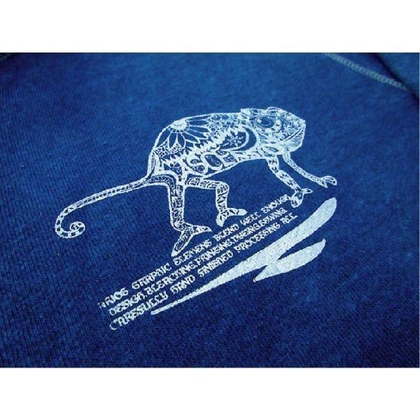 ASCENSION(アセンション)INDIGO (藍染め)ジップパーカ[Chameleon] - All Hand Made(オールハンドメイド)as-334|juice16|02