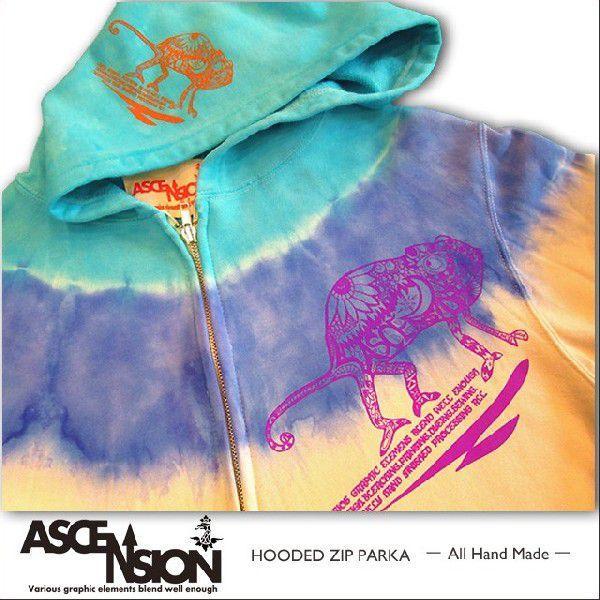 ASCENSION(アセンション)タイダイジップパーカ[Chameleon] - All Hand Made(オールハンドメイド)as-354|juice16