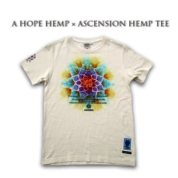 A HOPE HEMP × ASCENSION HEMP TEE 曼荼羅「MANDARA/BFM /Draw the yen」 as-583|juice16