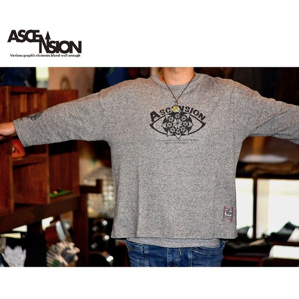 ASCENSION(アセンション)GOHEMP ROUND LOOSE TEE / HEAVY JERSEY ON ASCENSION 「Open your eyes」as-730|juice16