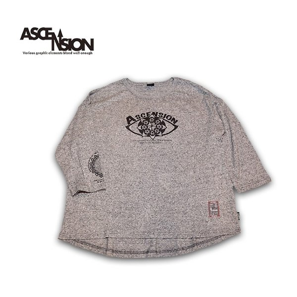 ASCENSION(アセンション)GOHEMP ROUND LOOSE TEE / HEAVY JERSEY ON ASCENSION 「Open your eyes」as-730|juice16|02