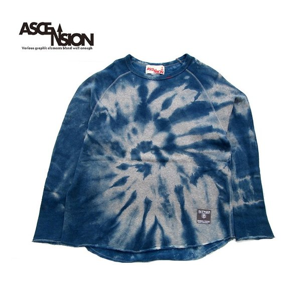 ASCENSION(アセンション) INDIGO CUTOFF SWEAT  as-735|juice16|02