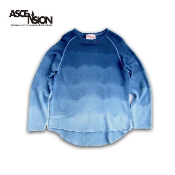 ASCENSION(アセンション)INDIGO CUTOFF SWEAT 藍染めグラーデーション as-741|juice16|02