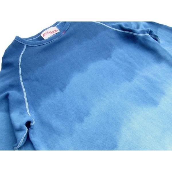 ASCENSION(アセンション)INDIGO CUTOFF SWEAT 藍染めグラーデーション as-741|juice16|04