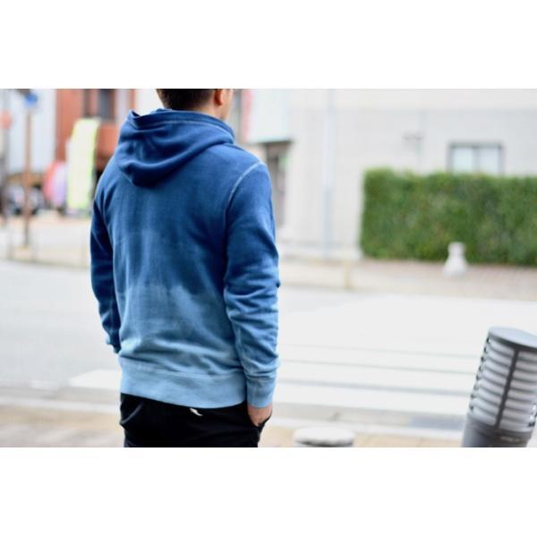 ASCENSION(アセンション)INDIGO PULLOVER HOODIE 藍染めグラーデーション パーカー as-742|juice16|02