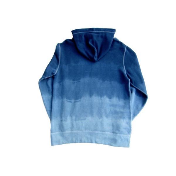 ASCENSION(アセンション)INDIGO PULLOVER HOODIE 藍染めグラーデーション パーカー as-742|juice16|04