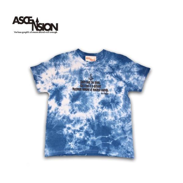 曼荼羅 藍染め Tシャツ ASCENSION(アセンション)インディゴTシャツ 藍染めTシャツ as-782|juice16