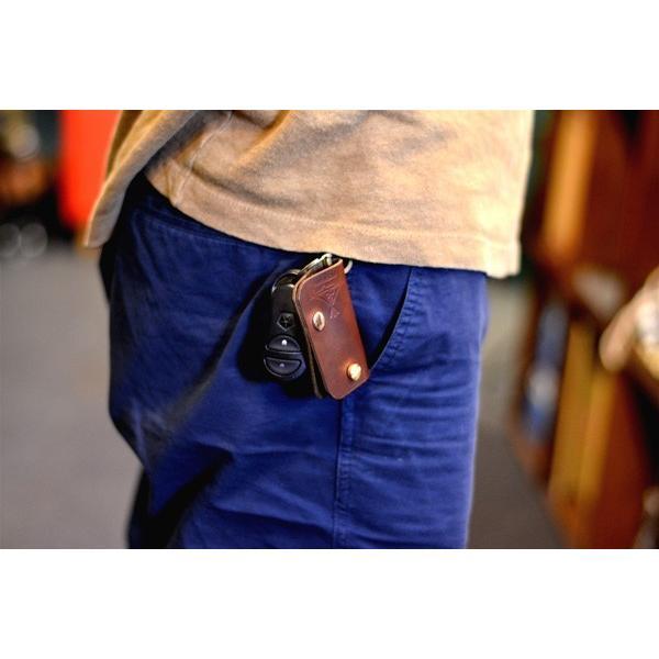 BLUE.art(ブルードットアート)KEY CASE (キーケース) Horween chromexcel leather/chocolate brown ba-027|juice16|02