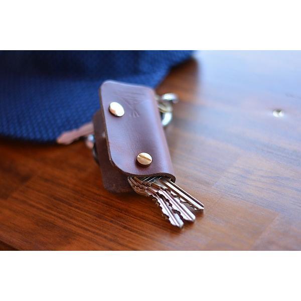BLUE.art(ブルードットアート)KEY CASE (キーケース) Horween chromexcel leather/chocolate brown ba-027|juice16|03