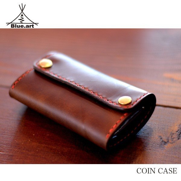 BLUE.art(ブルードットアート)Sliding coin catcher wallet [Horween chromexcel leather] ba-028|juice16