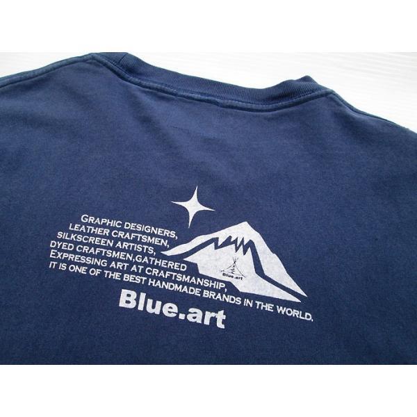 Blue.art(ブルードットアート)Blue.art(ブルードットアート)ネイティヴグラフィック ピグメントダイロングTシャツ ba-071|juice16|03