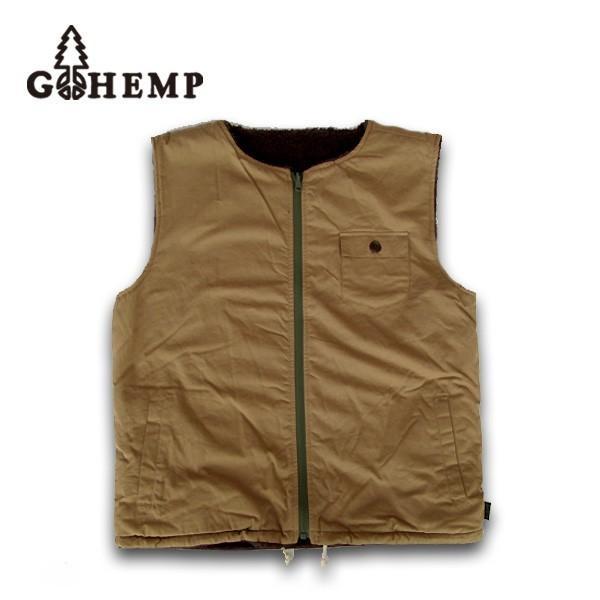 GO HEMP(ゴーヘンプ)PEACE VEST/ H/C MINI HERRINGBONEベスト  gh-020|juice16|02