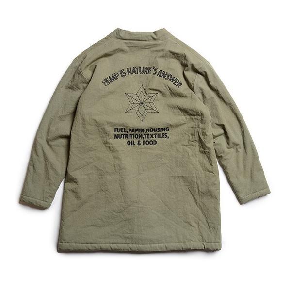 GO HEMP(ゴーヘンプ)HEMP ANSWER DOTEJAN/H/C ARMY TWILL ドテジャン ドテラ ボア 麻柄 ヘンプコットン gh-056 juice16 03