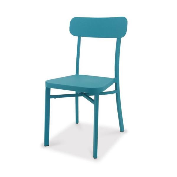 [廃番][送料込み対象外] おしゃれ カフェスタイル ガーデンチェア カラフル 「ガーデンライン ピッコロチェア(Piccolo Chair)」