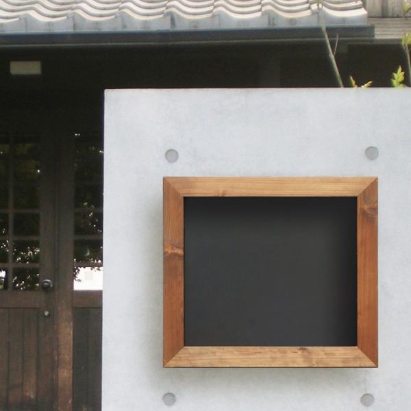 ポスト 埋め込み 郵便ポスト 埋め込みタイプ おしゃれ 家庭用 木製 木枠 黒板風 ダイヤル錠 「Black board ブラックボード 埋め込み型ポスト」