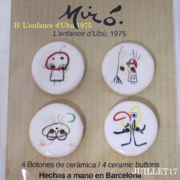 Joan Miro ジョアン・ミロ ボタン 手芸  4個セット|juillet17|03