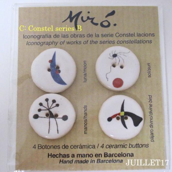 Joan Miro ジョアン・ミロ ボタン 手芸  4個セット|juillet17|04