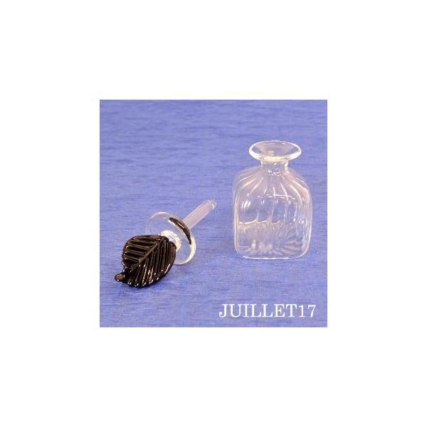 ムラーノガラス 香水瓶S ブラックリーフ|juillet17|02