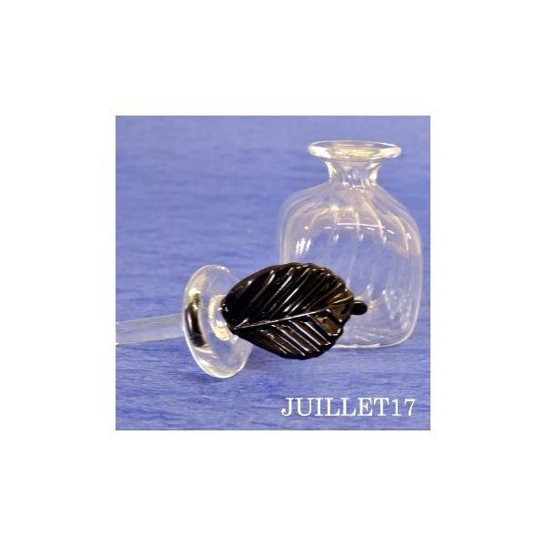 ムラーノガラス 香水瓶S ブラックリーフ|juillet17|03