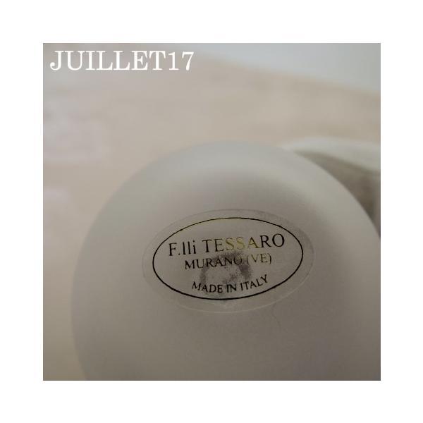 ムラーノガラス 香水瓶L グレー・フラワー|juillet17|04