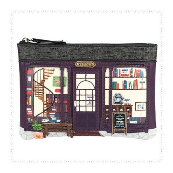 ベンデューラ ロンドン 財布 小銭入れ レディース キーケース  ブックショップ Vendula Book Shop Zipped Coin Purse|juillet17