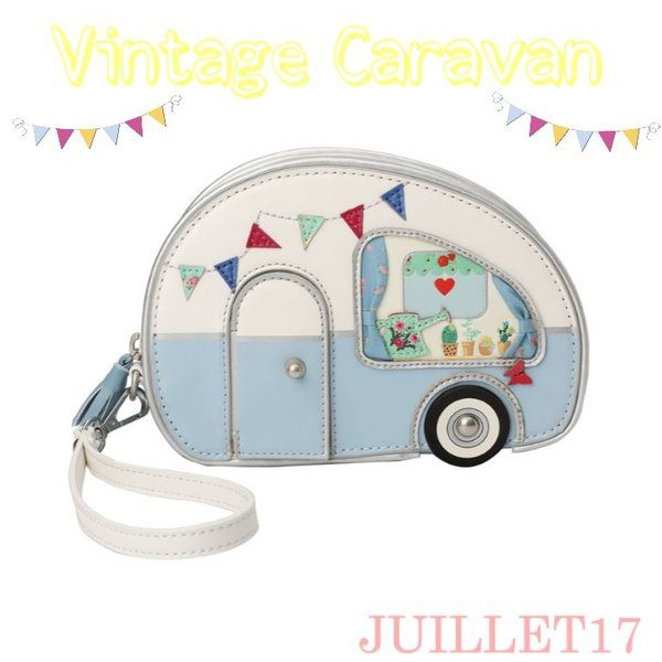 ベンデューラ ロンドン ポーチ コスメ 小物入れ ブランド 2way ヴィンテージキャラバン Vendula Vintage Caravan Pouch Bag|juillet17
